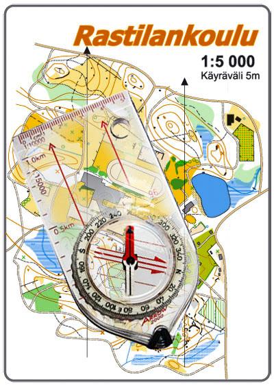 Suuntaa Kartta Kompassilla Koulusuunnistus